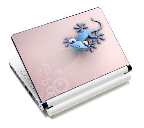 Luxburg® Design Aufkleber Schutzfolie Skin Sticker für Notebook Laptop 12 / 13 / 14 / 15 Zoll, Motiv: Gecko