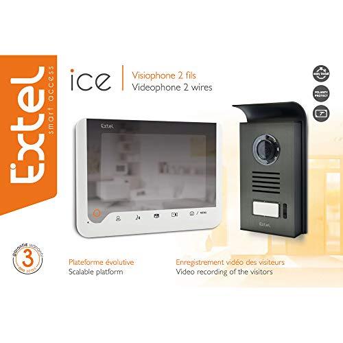 Extel ICE Videoportero 2hilos, Blanco, 7'