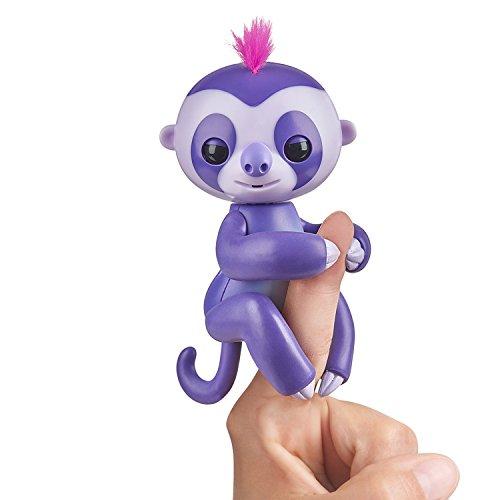 Fingerlings Faultier lila Marge 3752 interaktives Spielzeug, reagiert auf Geräusche, Bewegungen und Berührungen