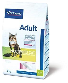 Virbac Vet Hpm Cat Ad Neutered Nourriture 3 kg pour Chat