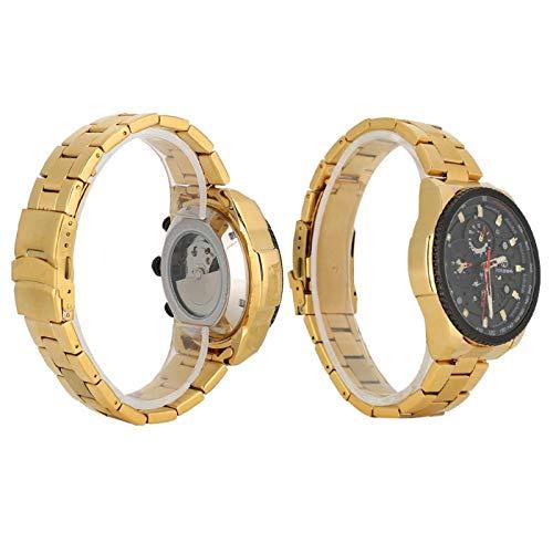 Reloj mecánico para hombre, esfera de reloj única de 6 manos, fácil y conveniente, para citas