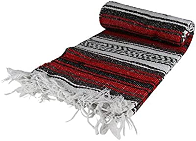 KAYSO SW200M-RD Red Mexican Blanket44; 65 x 45 in.