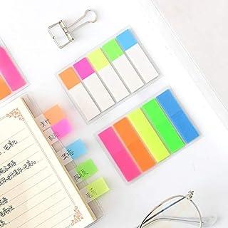 GGJIN 1 Pcs Creative Fluorescent Classification Index Sticker Loose Leaf Label Sticker Sticker Posted It Sticker Stationer...