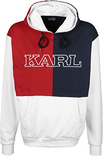 Karl Kani Retro Block Hoodie White/red/Navy (M)