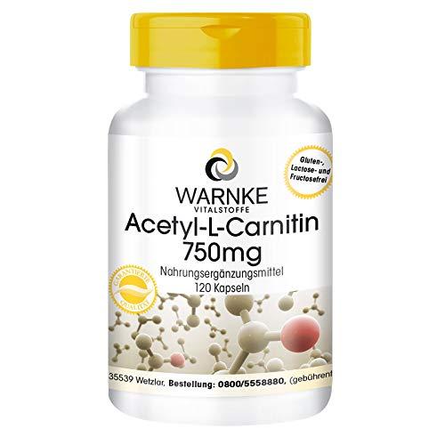 Acetil-L-Carnitina 750mg - 120 Capsule - altamente dosato - vegano