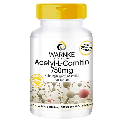 Gélules d'acétyl L-carnitine - 750mg - hautement dosé - vegan - 120 gélules