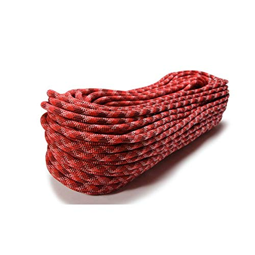 Maxim Apex 9.9 mm UIAA Water-Repellent Dynamic Climbing Rope, Cranberry/STD-Dry, 60 m / 200 ft