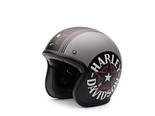 Harley-Davidson Grey Star Retro 3/4 Jet Helm, EC-98320-15E, XL
