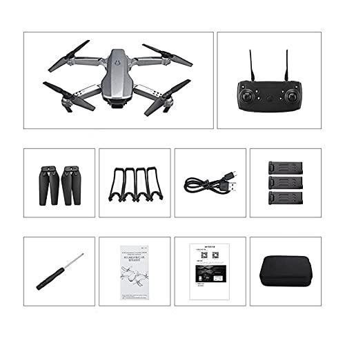 GEBAN T58 Drone 108. 0P FPV WiFi. Quadcopter con Mini Drone Pieghevole Professionale per Fotocamera RC. Giocattoli per elicotteri Quadcopter. Accessori droni (Taglia : 1080P 3Batteries Bag)