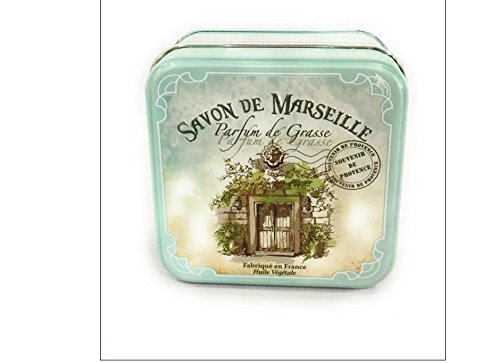 Savon de Marseille à la lavande 100g + boite métal carrée