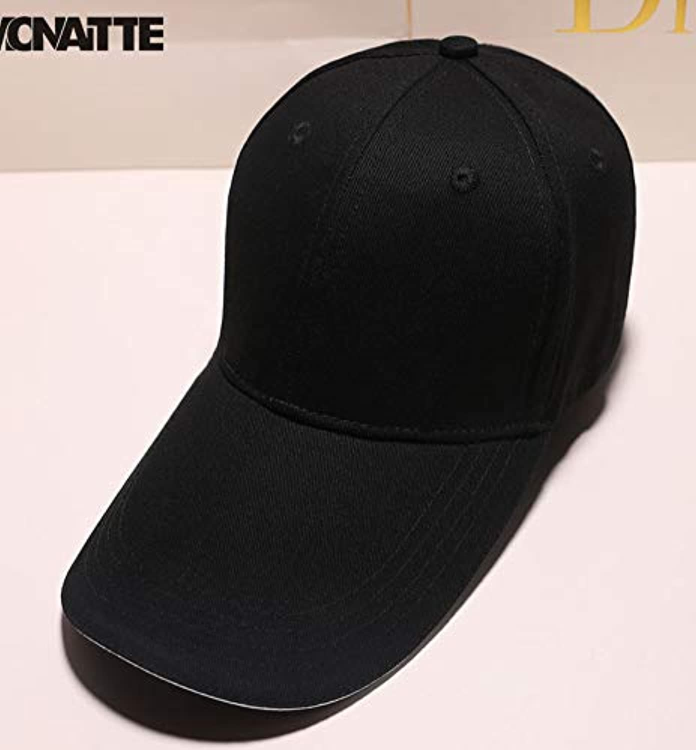 ZHAOSHOP Special new cap male Korean version of the black tide brand youth spring and summer baseball hat outdoor sports travel riding hiking leisure solid color body