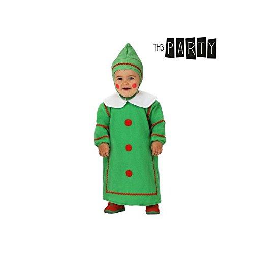 Atosa-12783 Atosa-12783-Disfraz De Árbol niño bebé-Talla Navidad, Color Verde, 6 a 12 Meses (12783)