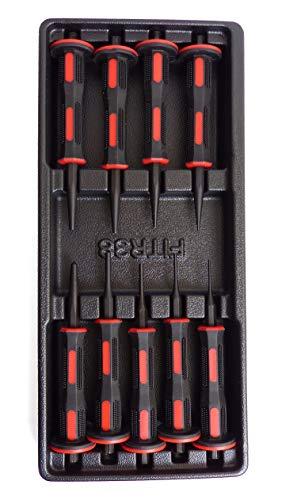 Splintentreiber 9 tlg Werkstattwagen Einlage Splintentreiber 2 – 6 mm