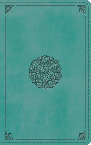 ESV Large Print Personal Size Bible (TruTone, Turquoise, Emblem Design)