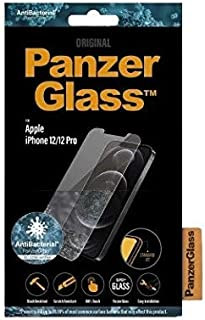 PanzerGlass Standard Fit Tempered Glass Screen Protector w/Anti-Microbial Surface Protection, Case Friendly & Easy Install...