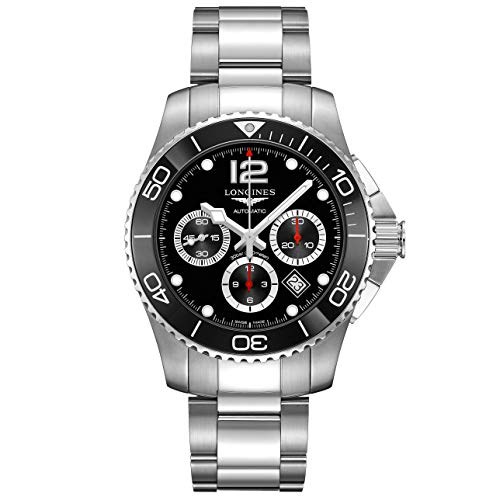 Longines orologio uomo HydroConquest nero ceramica 43mm automatico acciaio L3.883.4.56.6