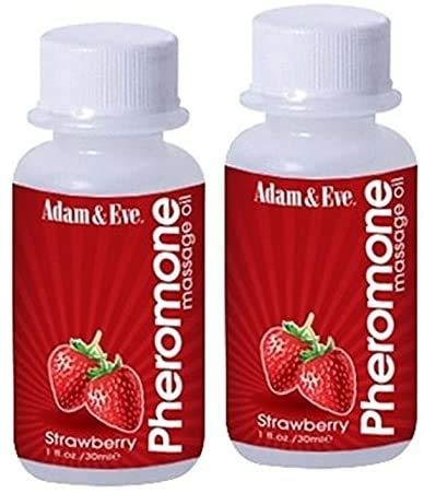 Adam and Eve Pheromone Massage Oil 1 Oz - PACK OF 2