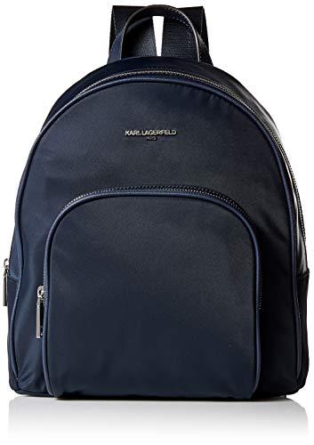 KARL LAGERFELD Paris Damen Cara Backpack Rucksack, Navy, Einheitsgröße