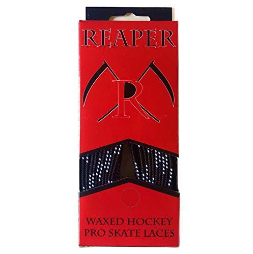 REAPER Schnürsenkel Eishockey gewachst, Schuhbänder Hockey 84-120 Zoll (schwarz, 84 Zoll (213cm))