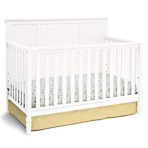 Delta Children Easton 4-in-1 Convertible Baby Crib, White