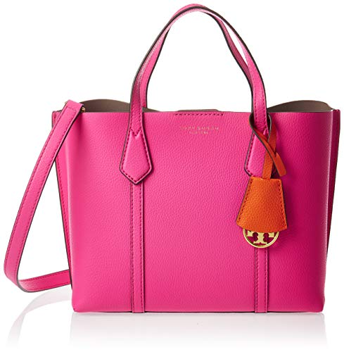 Tory Burch Women's Triple Compartment Perry Small Tote Handbag Crazy Pink