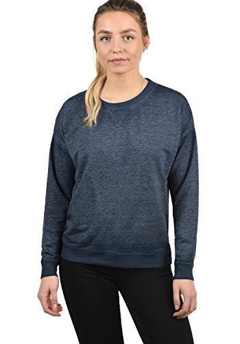 DESIRES Bianca Damen Sweatshirt Pullover Sweater Mit Rundhalsausschnitt, Größe:XS, Farbe:Insignia Blue Melange (8991)