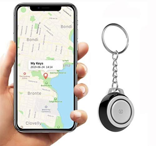 Auoeer Key Finder, Mini Bluetooth Dispositivos Tracker, perdida Anti-Chip de GPS, Controles remotos, Item Finder perseguidor Elegante, teléfono localizador, Pet Tracker.Negro (Talla : 3 Pcs)