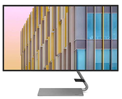 Lenovo Q27h-10 27-Inch Monitor, QHD (2560 x 1440), IPS, LED Backlit, 16:9, AMD FreeSync, USB-C, 4-Side Borderless, 75Hz, 4ms Response Time, 99% sRGB, Tilt, HDMI, DP 1.2, Low Blue Light, 66A7GCC2US