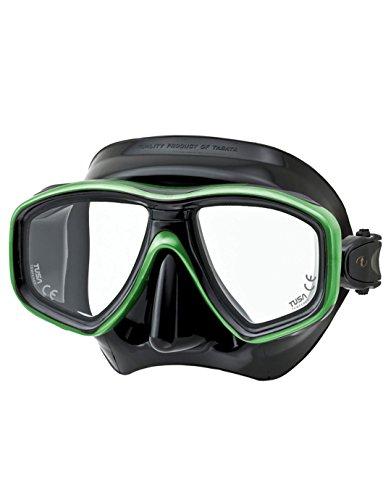 TUSA Maschera immersione M-212 Freedom Ceos - Nero - nero/verde segnale