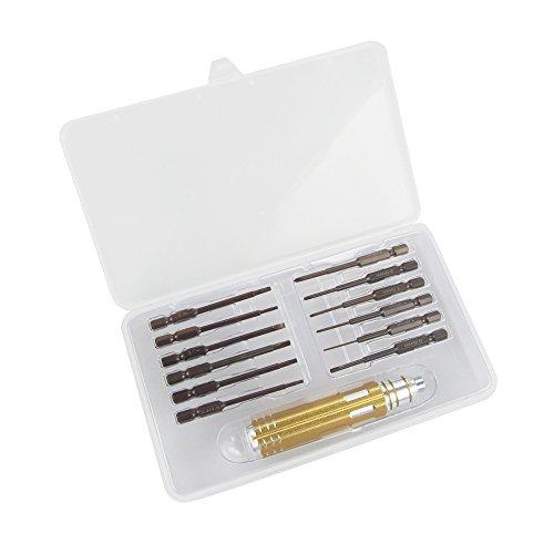 Anbee Repair Screwdriver Tool Kit Compatible with DJI Spark/Mavic Pro/Mavic Mini/Mavic Air/Mavic 2 / Tello EDU/Phantom 3 4 / Inspire Drone, 13-in-1 High-Speed Steel Screwdriver Set
