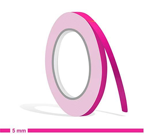 Siviwonder Zierstreifen pink in 5 mm Breite und 10 m Länge Folie Aufkleber für Auto Boot Jetski Modellbau Klebeband Dekorstreifen rosa