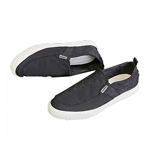 Zapatos de Lona para Hombre, Negro, Caqui, livianos, de Corte bajo, Mocasines de Estilo Simple, Zapatillas de Deporte concisas Transpirables Planas de Estilo Simple