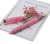 Moonman S1 Acrylic Celluloid Fountain Pen Fine Nib with Ink Refills Converter Gift Pen Set - Pink