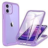 CENHUFO Cover iPhone 12, Cover iPhone 12 Pro Antiurto con Protezione dello Schermo Integrata 360 Gradi Full...