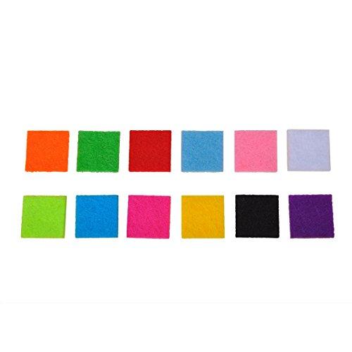 HOUSWEETY 12 Pcs Cotons Cube de Couleurs Variees pour Pendentif Diffuseur de Parfum ou d'Huiles Essentielles