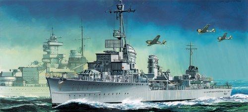 Dragon Models German Z-38 Destroyer Boat Building Kit, 1/700 Scale