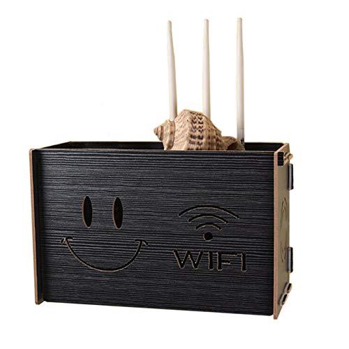 WLAN-Router-Kabelstecker Wandmontage Set Top Box Regal Multimedia-Zubehör Faserplatte, 11.41 * 4.72 * 7.08in (Farbe : D)