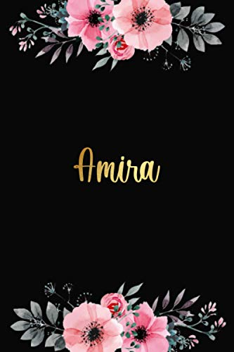 Amira: Personalized Name Lined Journal Diary Notebook 120 Pages, 6