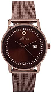 """Luxurious and distinctive men's watches Bots whipped brown color"""