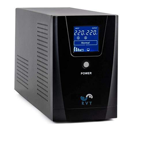 RVT ups 1500 VA Pure Line Interactive con Onda SINUSOIDALE Pura con display LCD