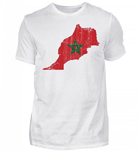 Hochwertiges Herren Shirt - Marokko Stolzes Marokkanisches Vintage Fussball Fan Trikot - Morocco Land Sport Geschenk