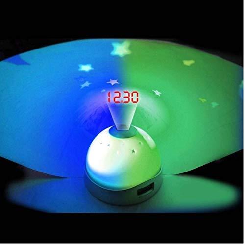 HUKITECH Premium wekker & sterrenhemelprojector (digitaal) betoverende slaaphulp - klok nachtlampje sterrenhemel projector baby & kinderen kinderwekker licht lamp decoratieve verlichting van HUKITECH