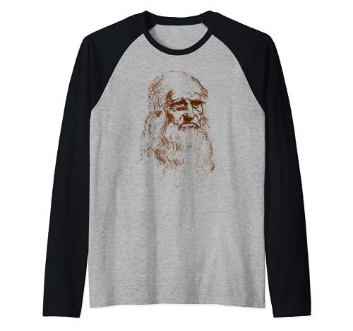 Leonardo da Vinci autor del retrato de El hombre de Vitruvio Camiseta Manga Raglan