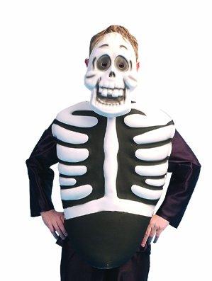 Plastron Squelette + masque - Taille Unique