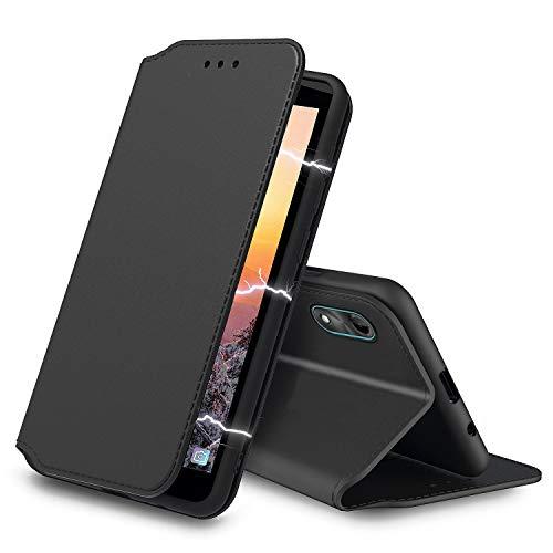 Tenphone - Funda protectora para Wiko Y51, piel sintética, cierre magnético, compatible con Wiko Y51, color negro