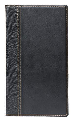 Securit Rechnungsmappe Trendy Lederoptik, ca. 37 x 30 cm, schwarz, elegant, mit Fächern für Geldscheine, Kreditkarten und Kassenbelege