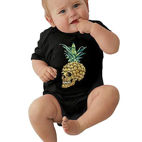 Skull Pineapple Body de Manga Corta para bebé 12m Black