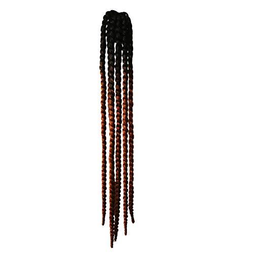 KLOP256 Casco de pelo femenino de la decoración de Hong para la motocicleta Rampa Trenzas de la Rampa de Caballo Ventosa Bicicleta Coletas Reutilizables Gradiente Twisting (# 02)