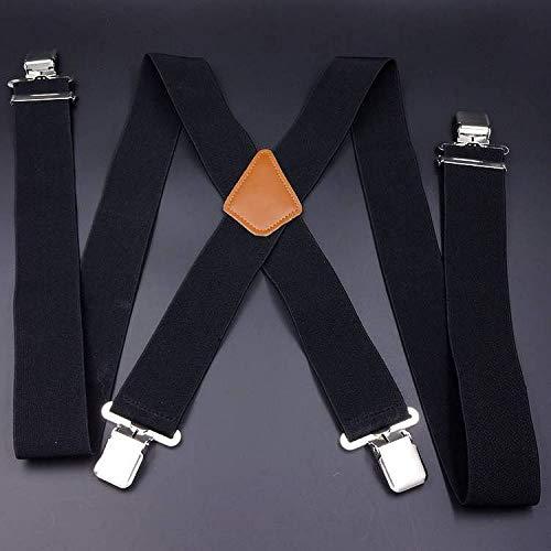 SUPOOGO 5Cm Heren Ultra-Wide Stretch Band Clip X-Shaped Plus Fat Man Elastische Band 4 Clip Adult Strap Suspender Belt