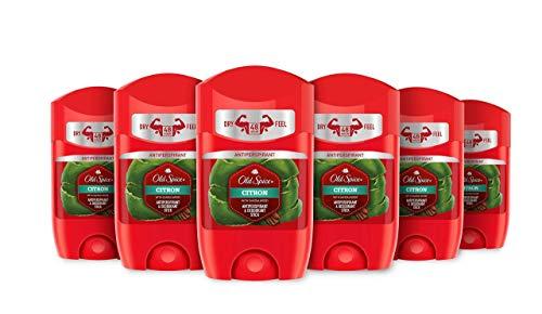 Old Spice - Desodorante Stick Citron, Pack de 6 x 50ml (300ml Total)